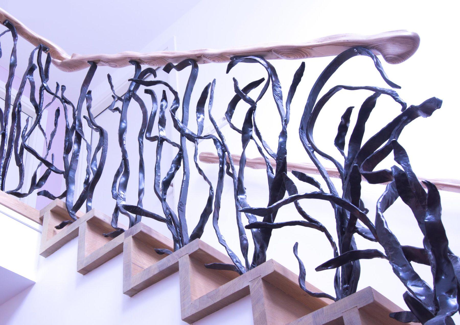 Smeedwerk trapleuning, ontwerp Jan Stigt