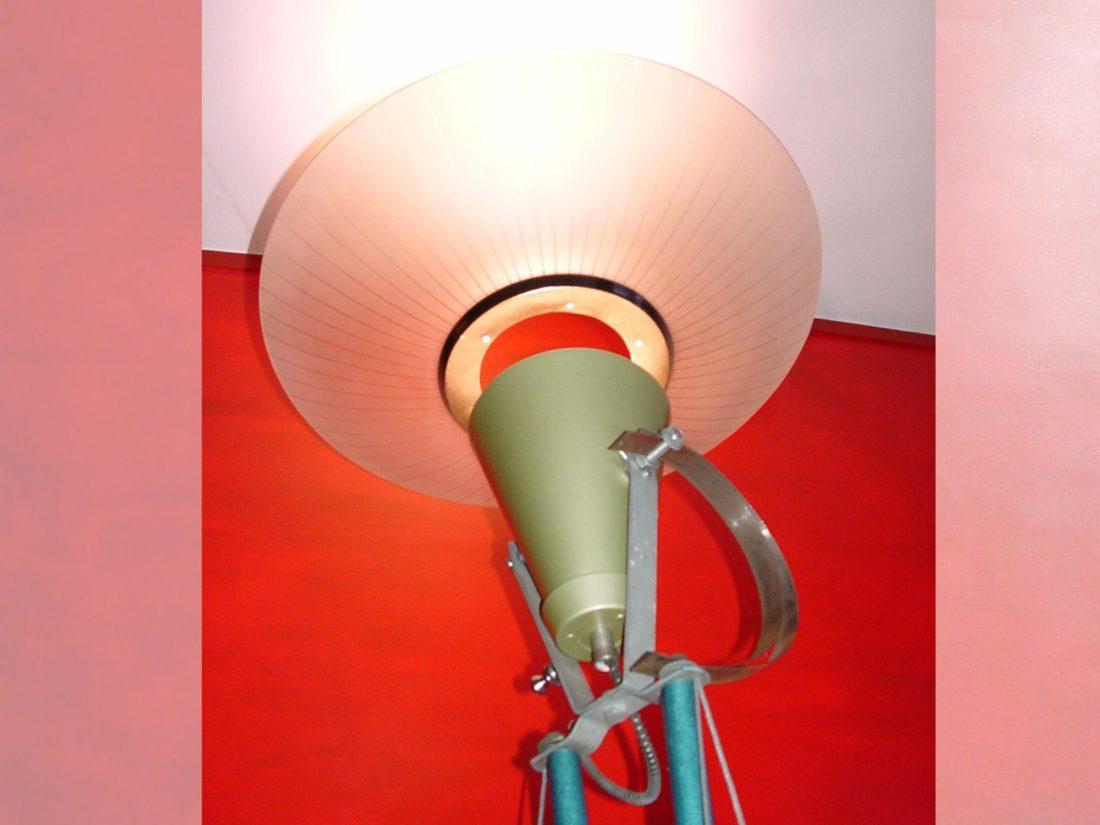 Detail staande lamp, ontwerp Jan Stigt